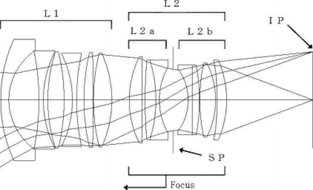 A patente da lente 35mm 1.4 II, da Canon.