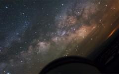 Time-lapse do ponto de vista de um telescópio em ação