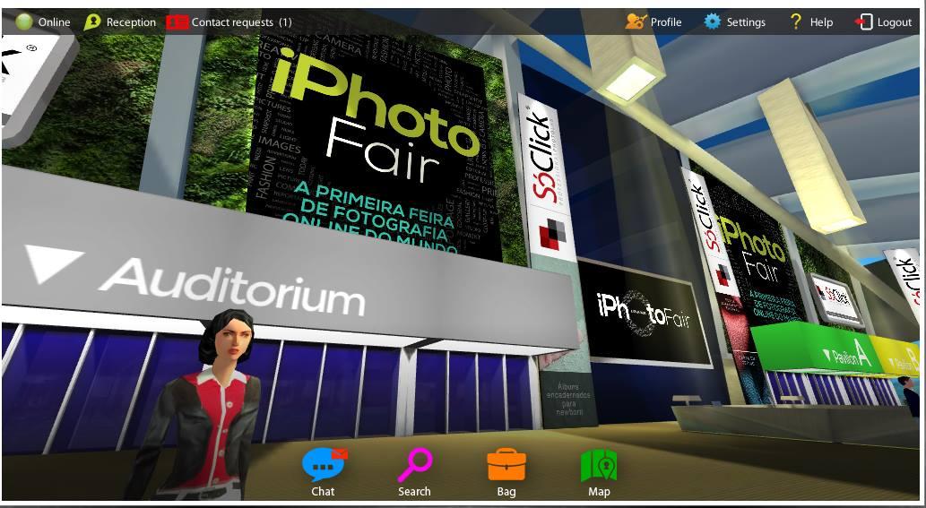 O avatar de Fernanda Ramos na iPhoto Fair.