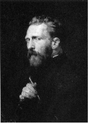 Retrato de Van Gogh pintado por John Peter Russell.