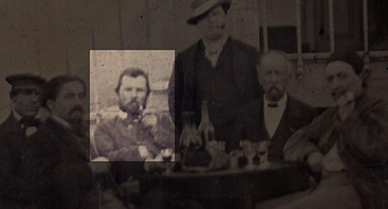 Detalhe mostrando Vincent Van Gogh.