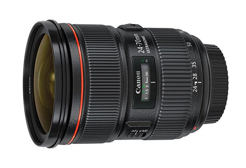 A atual lente 24-70mm da Canon.