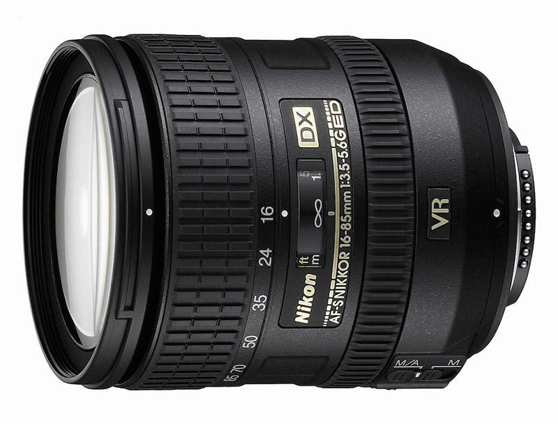 A atual lente de 16-85mm.