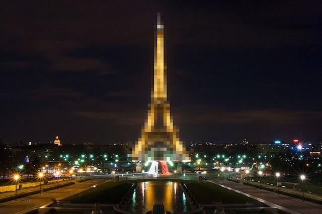 Fotografias da Torre Eiffel de noite continuam proibidas | Foto: Sathish J, com modificação de Peta Pixel.
