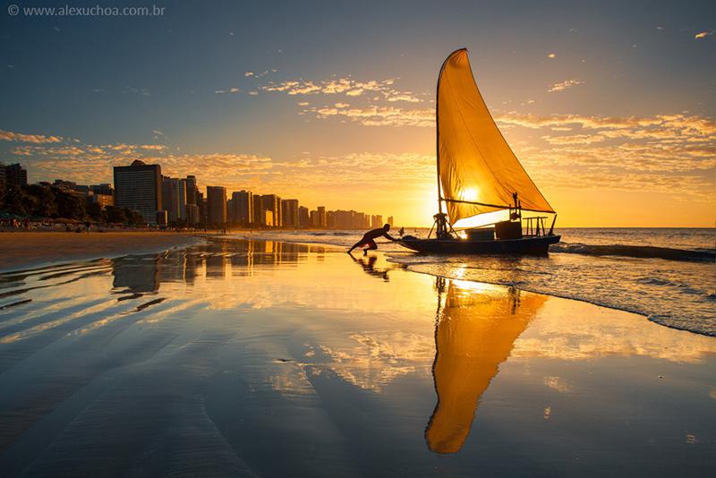 Beira mar em Fortaleza | Foto: Alex Uchoa