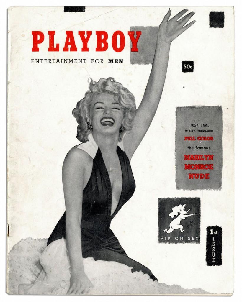 A 1ª edição da revista Playboy, lançada em 1953 com Marilyn Monroe na capa