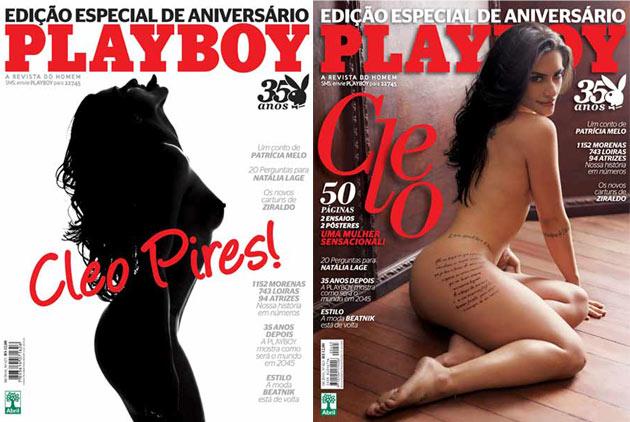 A edição de comemoração de 35 anos da Playboy no Brasil contou com duas capas de Cléo Pires