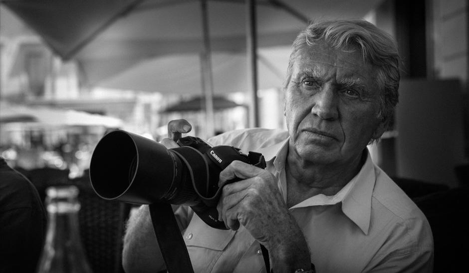 O fotógrafo Don McCullin   Imagem: Canon/Divulgação