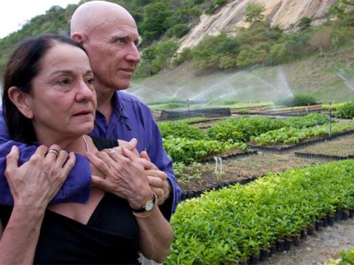 Sebastião e sua esposa Lélia.