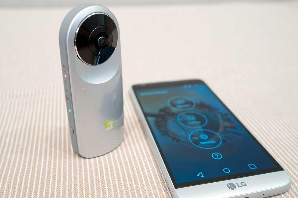 novo LG G5 com 3 câmeras e nova câmera 360 graus