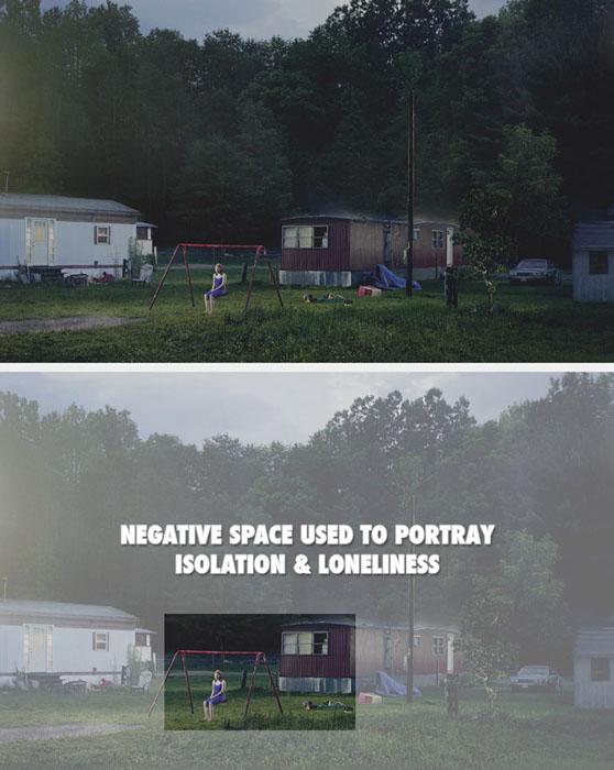 Bom uso do espaço negativo | Foto: Gregory Crewdson