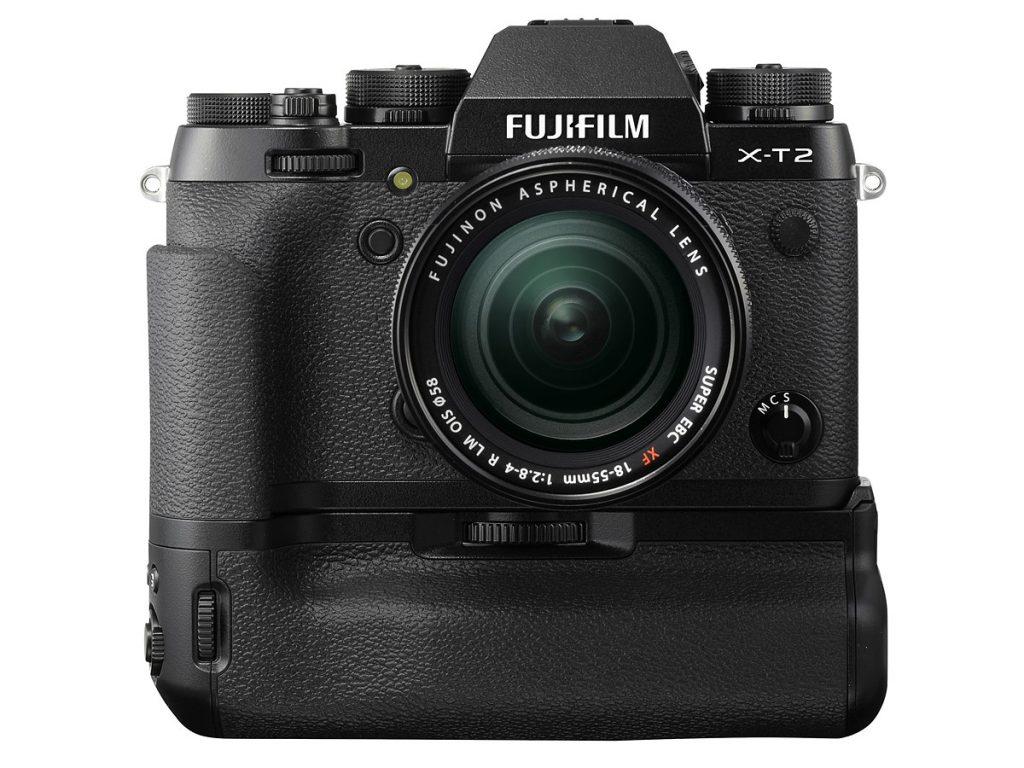 A câmera com o grip especial