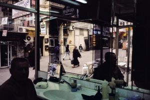TURKEY. Istanbul. 2001. View from a barbershop near Taksim Square.