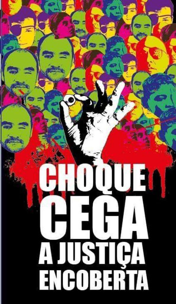Arte divulgada na internet em apoio a Sérgio Silva