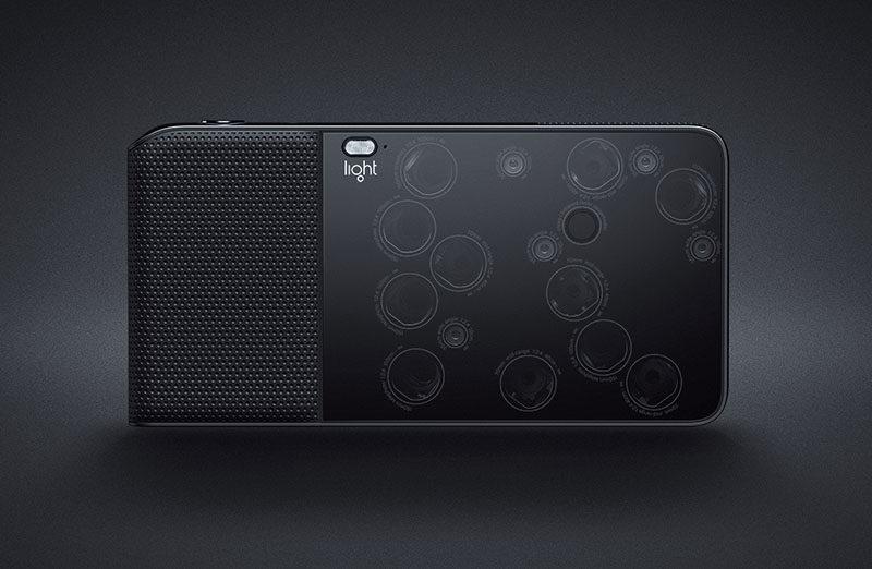 A câmera L16 da Light no protótipo de 2015.