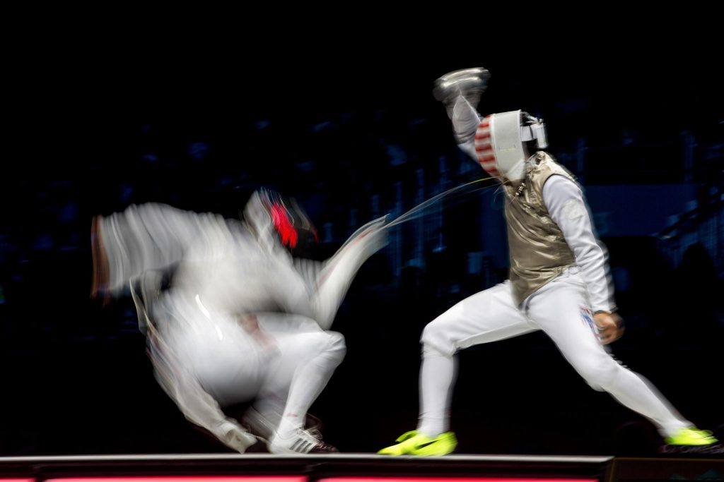 Team foil, London, UK, August 2012 fencing: Men's team foil: Germany defeats US for Bronze