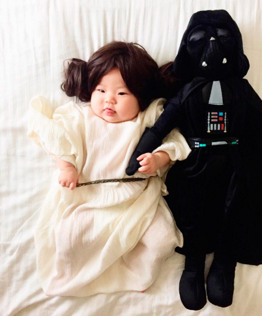 Princesa Leia e Dart Vader