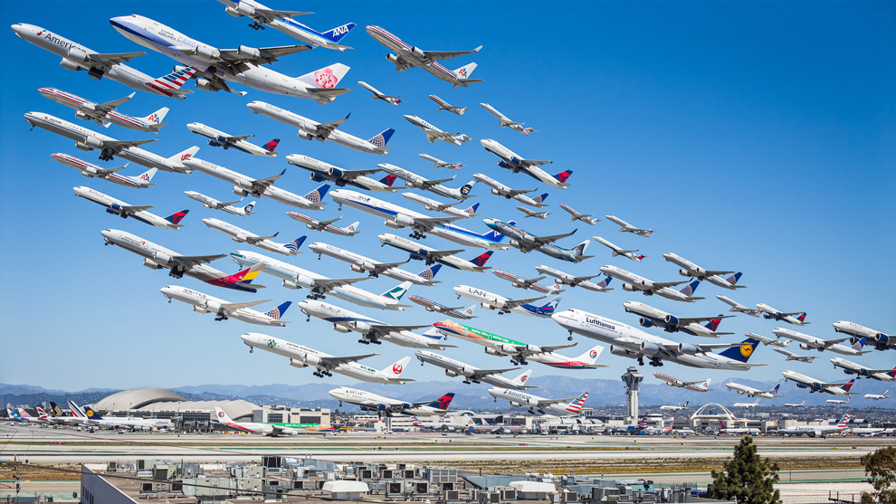 A foto de Mike Kelley no aeroporto de Los Angeles que se tornou viral