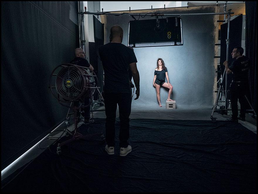 Peter Lindbergh fotografando Penelope Cruz