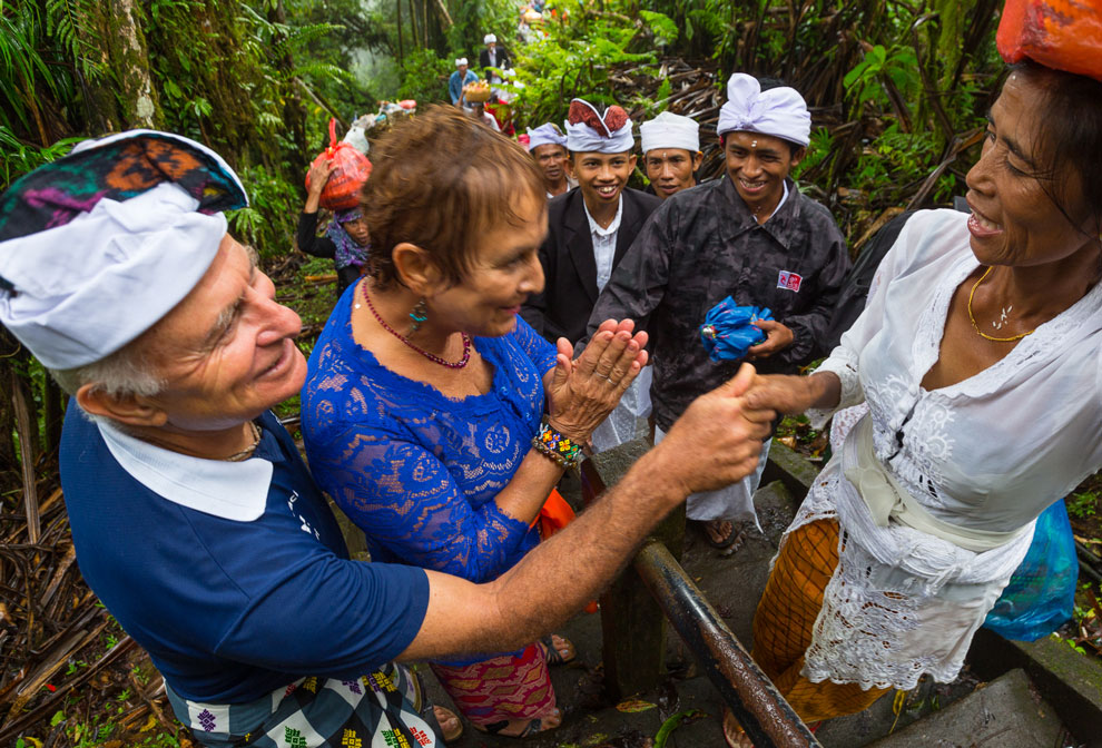 A Família Schurmann em Bali, na Indonésia   Foto: Klaus Schlickmann