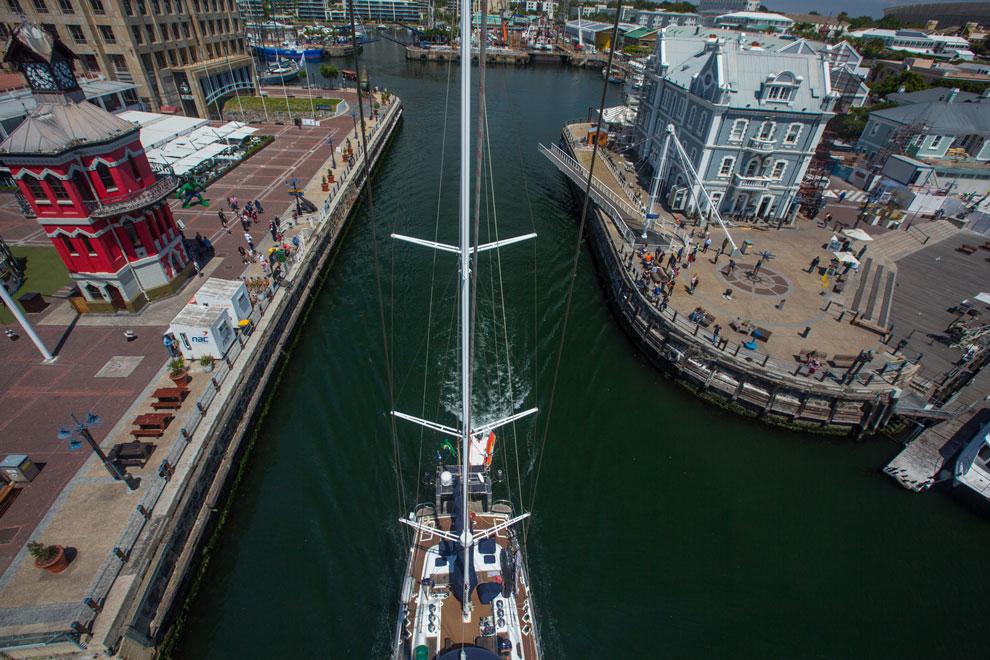 O veleiro Kat em Cape Town, Africa do Sul   Foto: Klaus Schlickmann