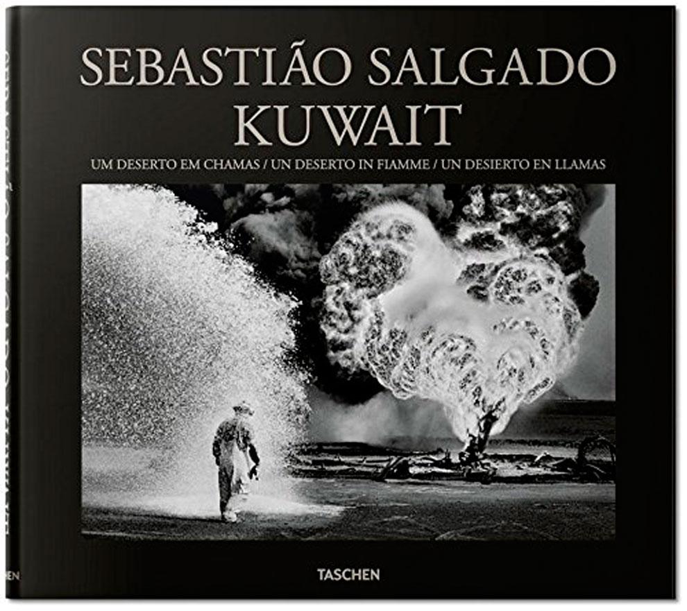 """A capa do livro """"Kuwait, um deserto em chamas"""", publicado pela Taschen."""