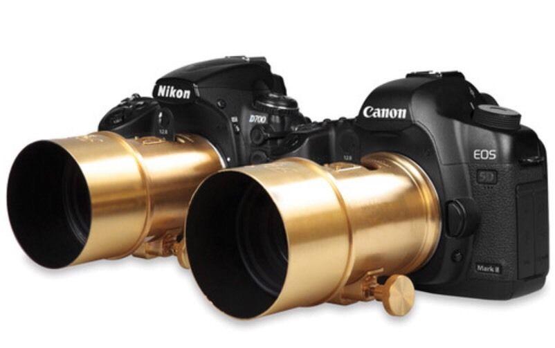 A Petzval 85mm f/2.2 tem versões para Nikon e Canon