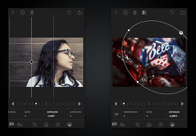Os filtros Graduado e Linear permitem escurecer apenas o lado esquerdo da imagem ou criar uma vinheta não centralizada.