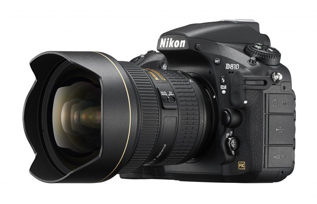 A câmera Nikon D810, que deve ser substituída pela D820