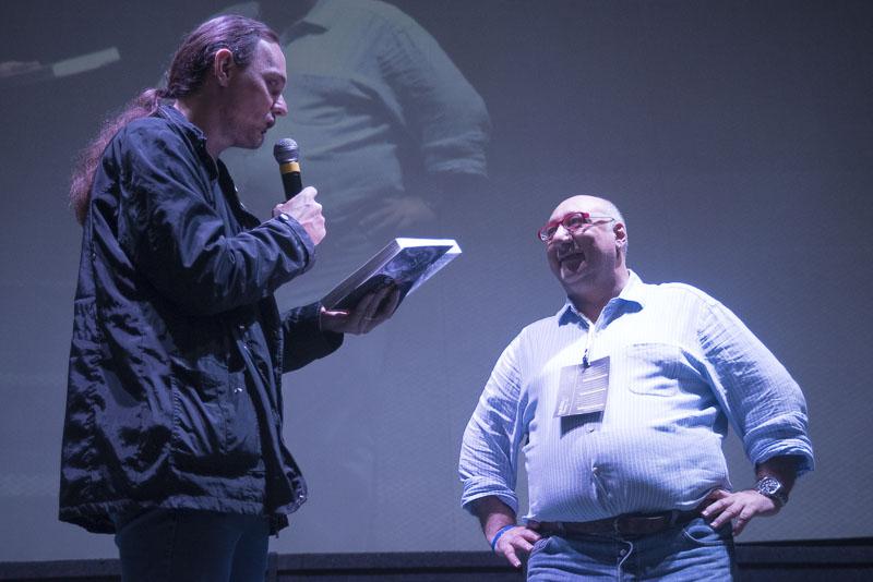 """Altair Hoppe com Danilo Russo, autor do livro """"Iluminação: teoria e prática"""""""