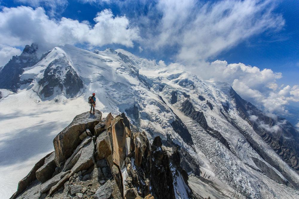 Aguille du Midi, Mont Blanc - França   Foto: Edson Vandeira