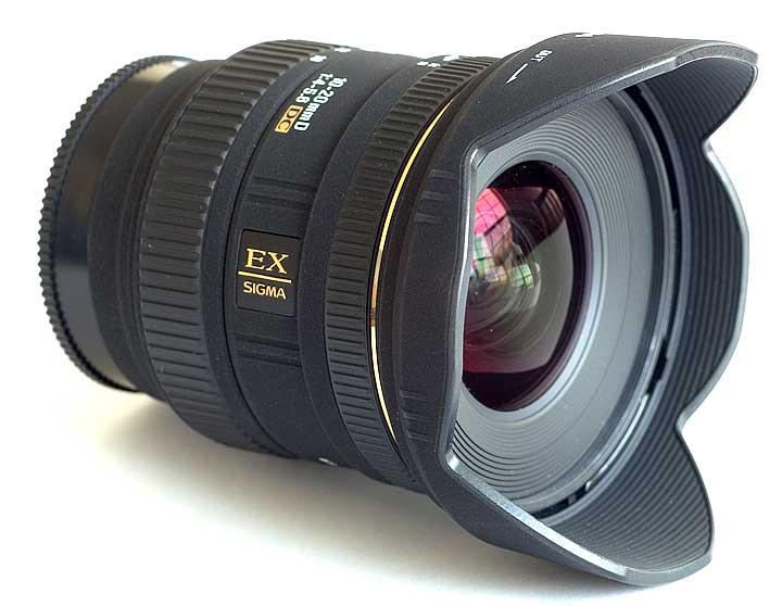 A lente Sigma 10-20mm