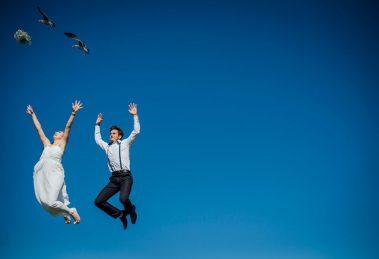 Como fiz a foto: o casal voador