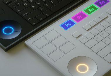 Teclado conceito é desenvolvido para quem usa programas da Adobe