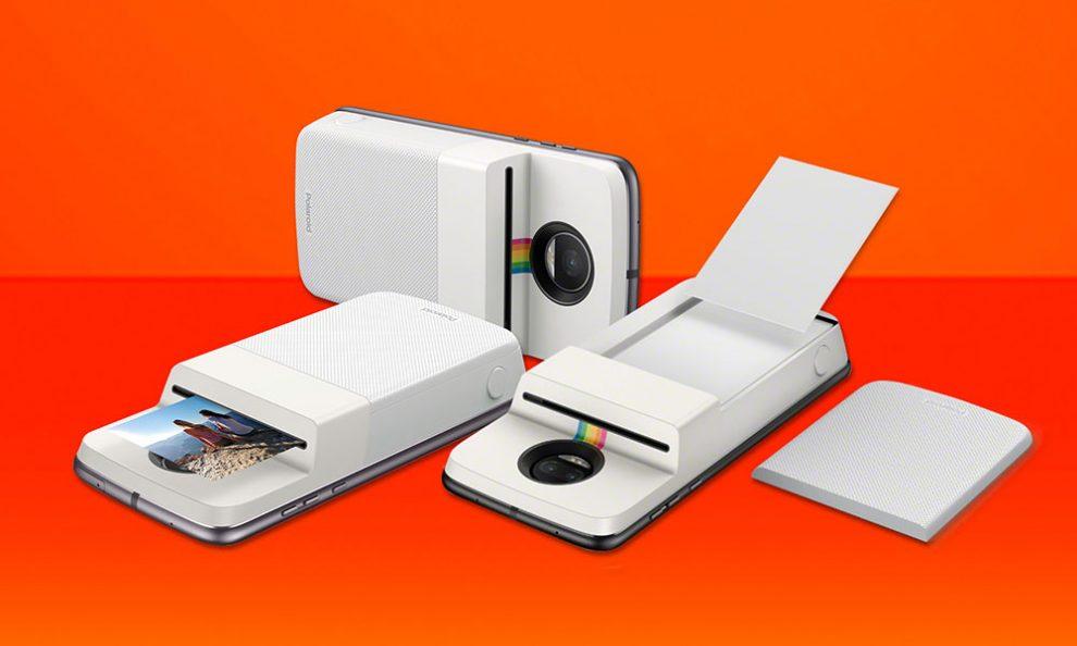 Módulo da Polaroid transforma Moto Z em câmera instantânea   iPhoto ... 3219a0f8e1