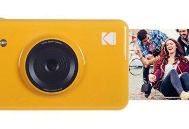 Câmera Mini Shot da Kodak imprime pequenas fotos instantâneas