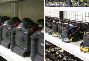 Esse é o arsenal de câmeras da Canon e da Nikon nas Olimpíadas de Inverno